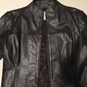 Faux Vegan Leather Jacket Very Dark Brown Old Navy
